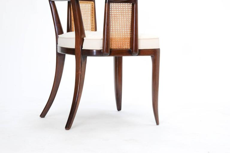 Set of up to 12 Magnificent Edward Wormley Dining Chairs for Dunbar For Sale 3