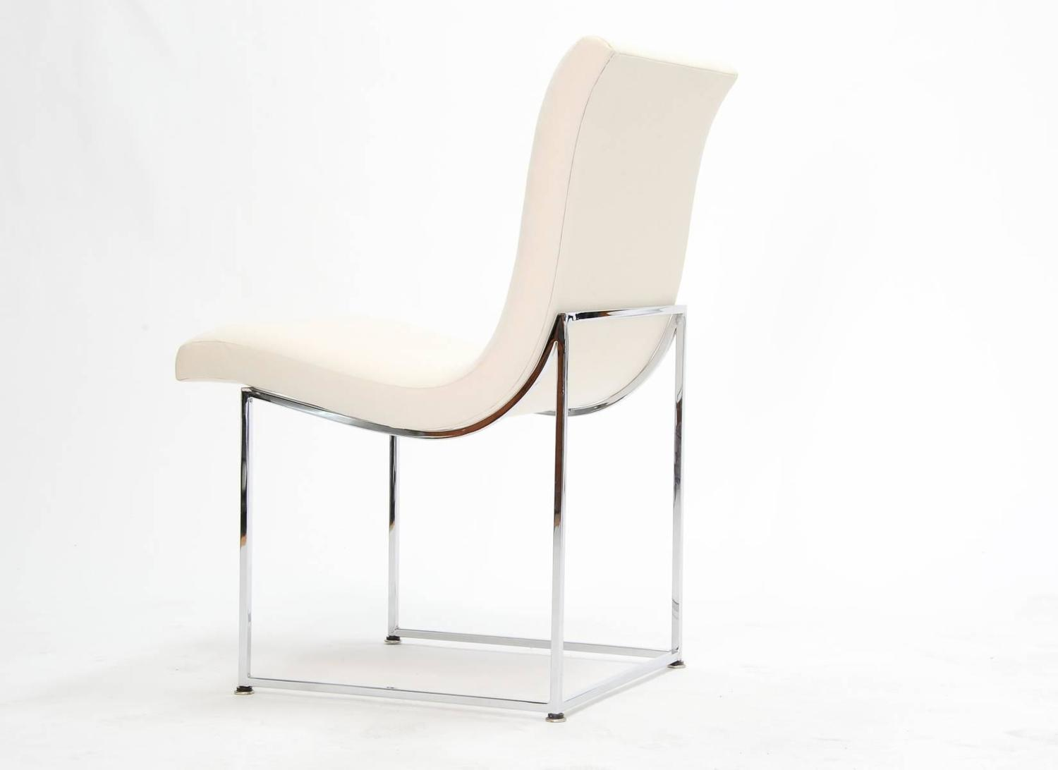 Set Of Eight Milo Baughman Scoop Dining Chairs For Sale At
