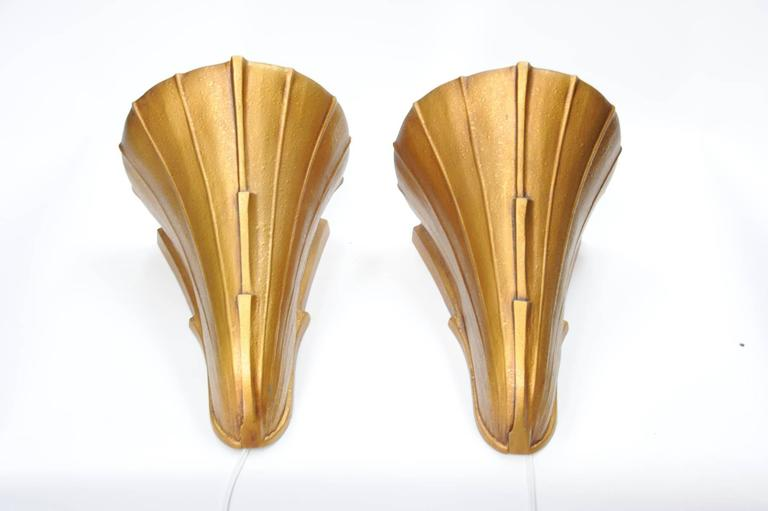 Wonderful Pair of Art Deco Movie Theater Sconces 2
