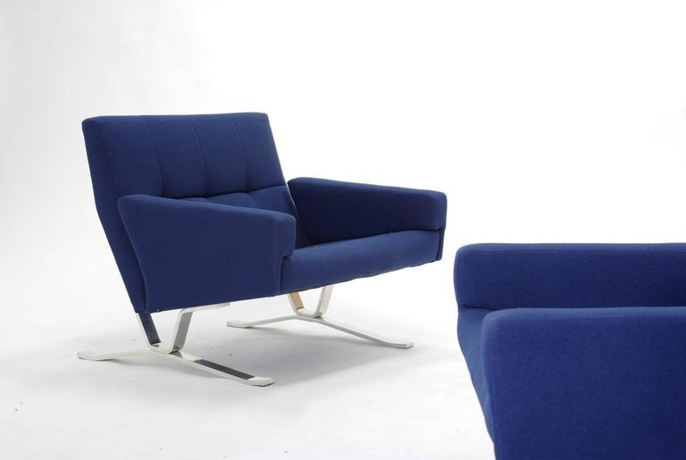 Pair of European Club Chairs for JG Furniture Company after Poul Kjaerholm 3
