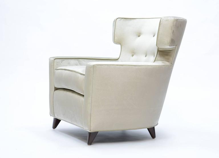 American Magnificent Wingback Club Chairs in the Manner of Gio Ponti For Sale