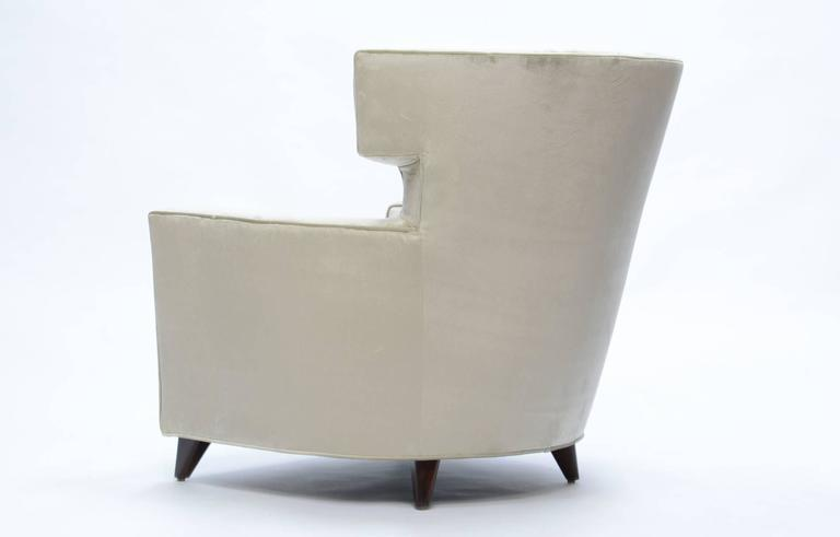 Magnificent Wingback Club Chairs in the Manner of Gio Ponti In Good Condition For Sale In Portland, OR