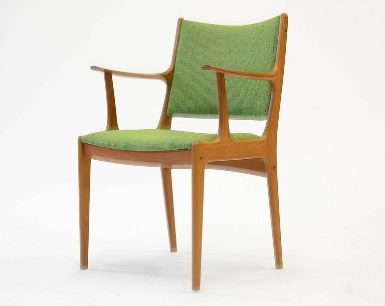 Mid-Century Modern Ten Johannes Andersen Armchairs with Nanna Ditzel Hallingdal Green Fabric For Sale