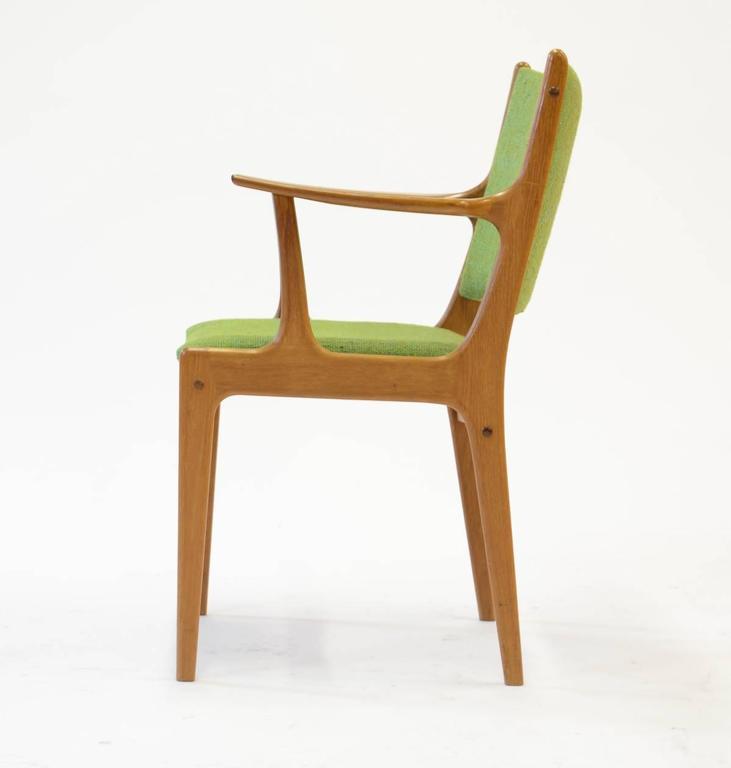 Danish Ten Johannes Andersen Armchairs with Nanna Ditzel Hallingdal Green Fabric For Sale