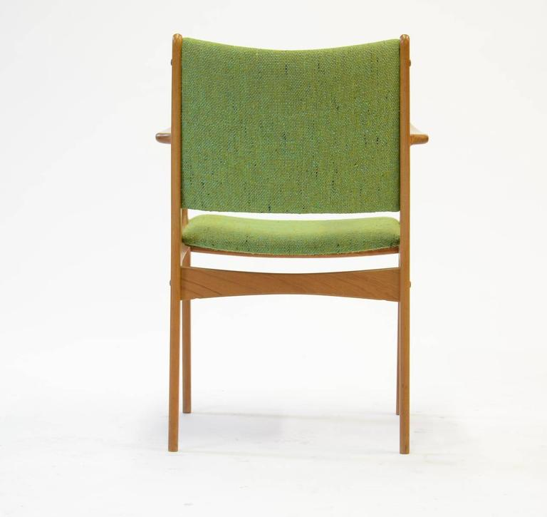 Ten Johannes Andersen Armchairs with Nanna Ditzel Hallingdal Green Fabric In Good Condition For Sale In Portland, OR