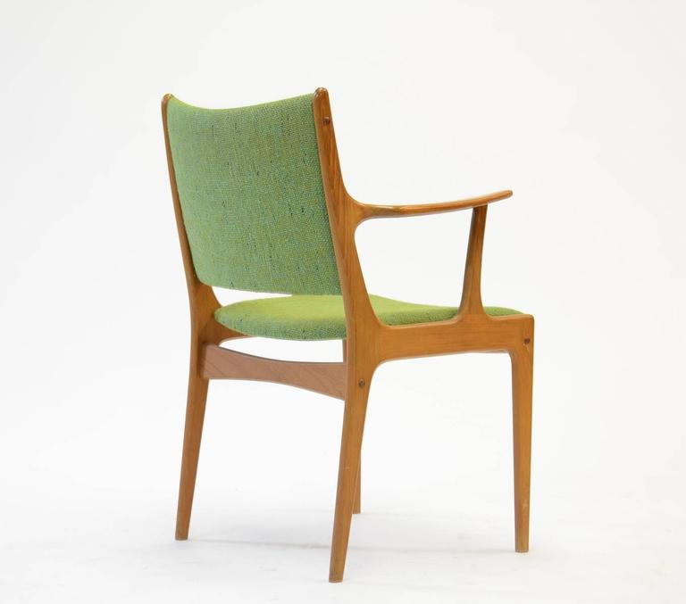 Mid-20th Century Ten Johannes Andersen Armchairs with Nanna Ditzel Hallingdal Green Fabric For Sale