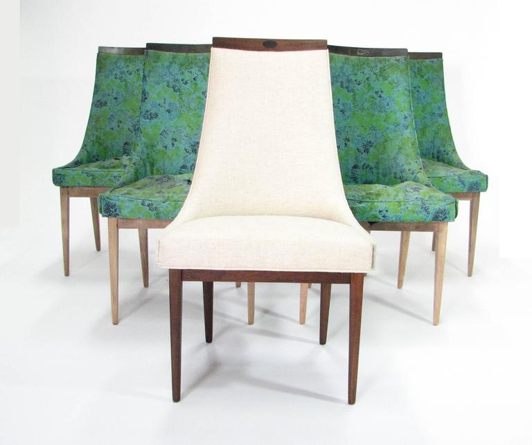 Six Mid-Century Walnut Dining Chairs after Adrian Pearsell 9