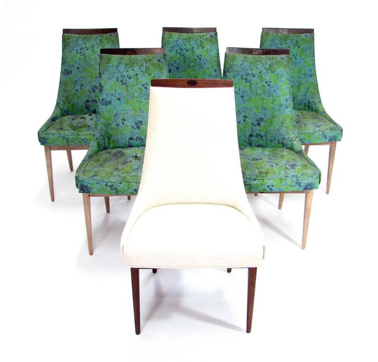 Six Mid-Century Walnut Dining Chairs after Adrian Pearsell 2