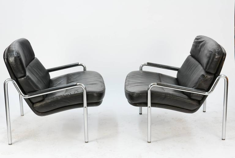 Inviting Pair of Club Chairs by Jørgen Kastholm for Kusch & Co. 2