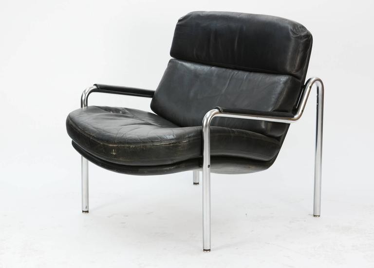 Inviting Pair of Club Chairs by Jørgen Kastholm for Kusch & Co. 3