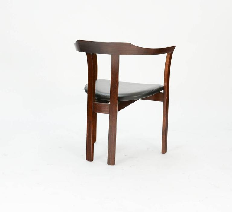 Scandinavian Modern A Pair Rosewood Arm Chairs by Hans Olsen for C/S Mobler, Glostrup  For Sale