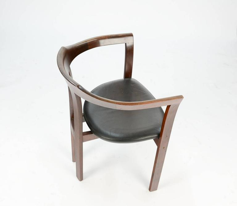 A Pair Rosewood Arm Chairs by Hans Olsen for C/S Mobler, Glostrup  In Good Condition For Sale In Portland, OR