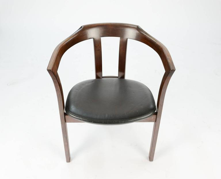 20th Century A Pair Rosewood Arm Chairs by Hans Olsen for C/S Mobler, Glostrup  For Sale