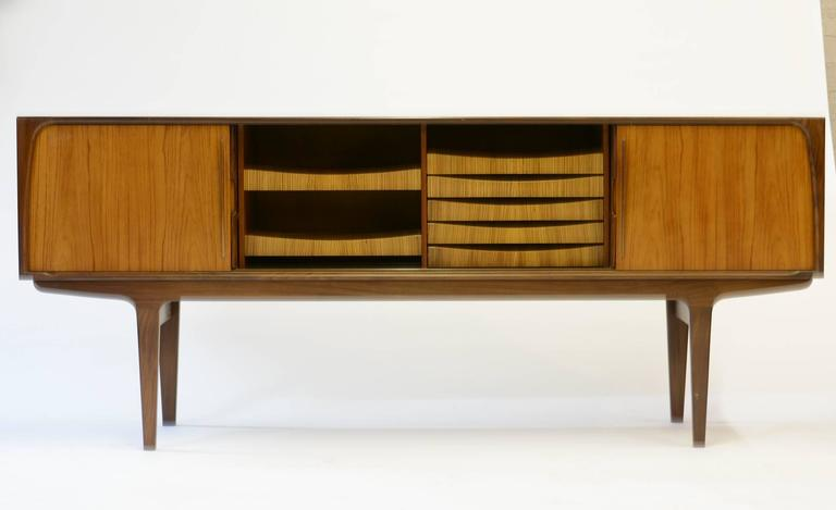 Magnificent Danish Teak Mid-Century Sideboard In Good Condition For Sale In Portland, OR