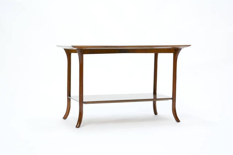 T. H. Robsjohn-Gibbings Side Table for Widdicomb with Crossed-Veneer Top 2