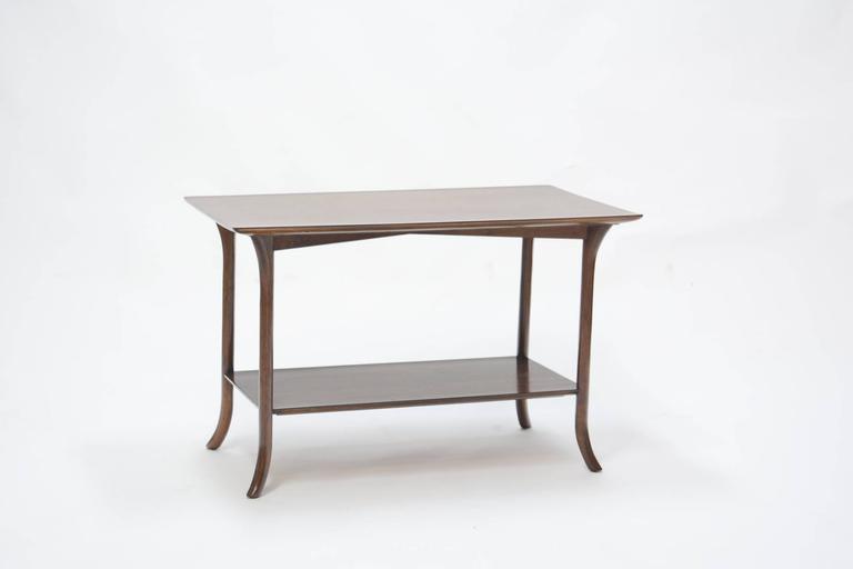 T. H. Robsjohn-Gibbings Side Table for Widdicomb with Crossed-Veneer Top 3