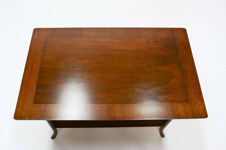 T. H. Robsjohn-Gibbings Side Table for Widdicomb with Crossed-Veneer Top 5