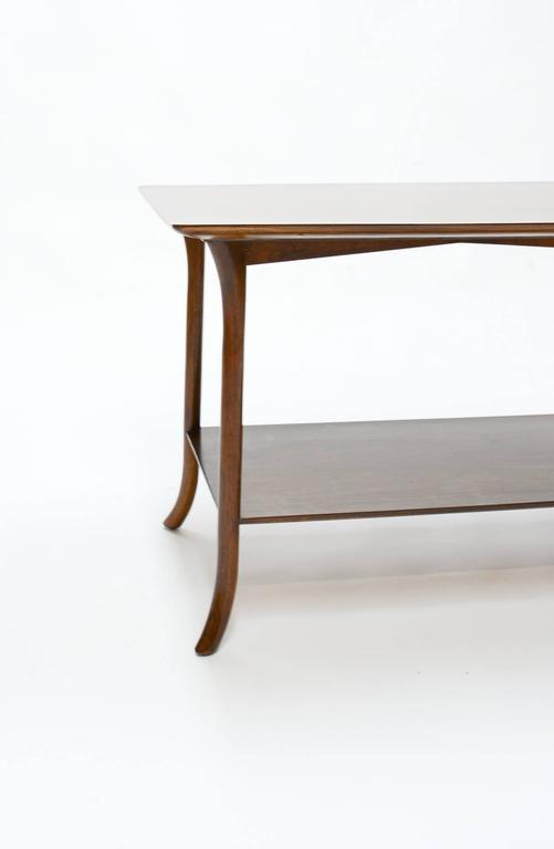 T. H. Robsjohn-Gibbings Side Table for Widdicomb with Crossed-Veneer Top 6