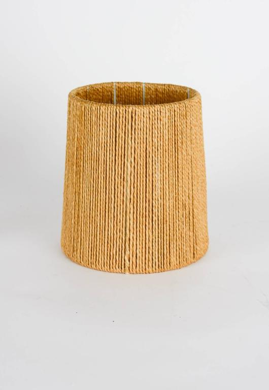 Petite Teak Lamp with a Jute Strand Shade by Jørgen Gammelgaard 4