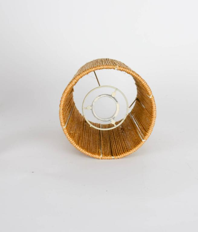 Petite Teak Lamp with a Jute Strand Shade by Jørgen Gammelgaard 5