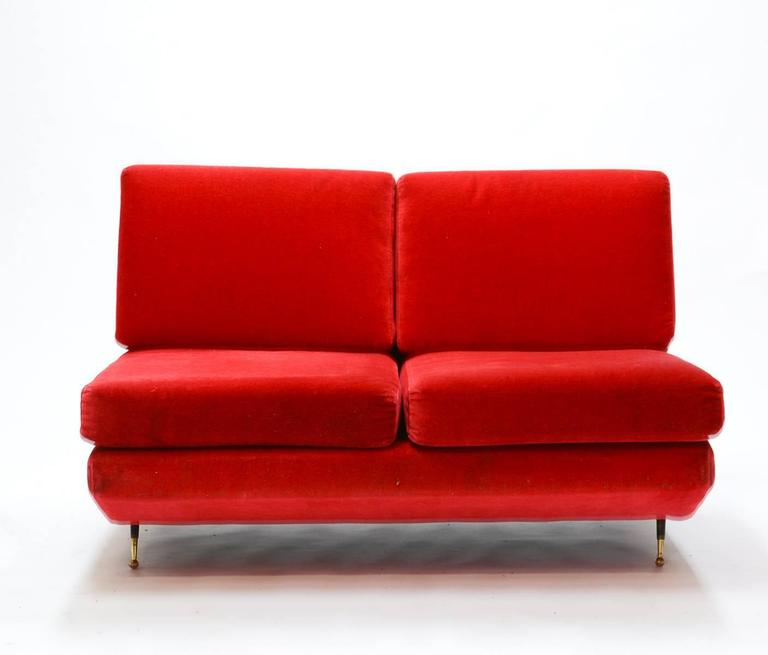 Mid-Century Italian Settee in the Manner of Marco Zanuso 2