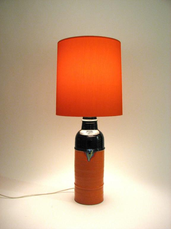 German Mid-Century Glazed Ceramic Table Lamp by Bjorn Wiinblad for Rosenthal For Sale