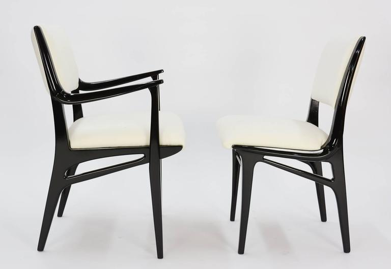 Elegant Set of 6 Dining Chair by John Van Koert's Profile Line for Drexel 2
