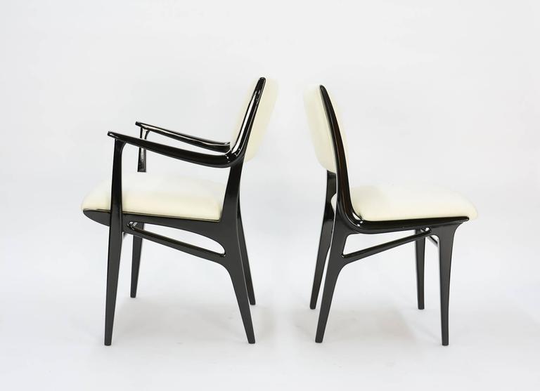 Elegant Set of 6 Dining Chair by John Van Koert's Profile Line for Drexel 4