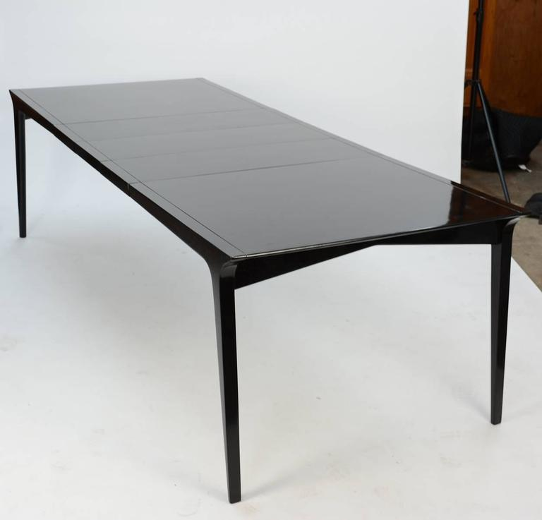 John Van Koert Profile Dining Set for Drexel in Black Lacquer 2