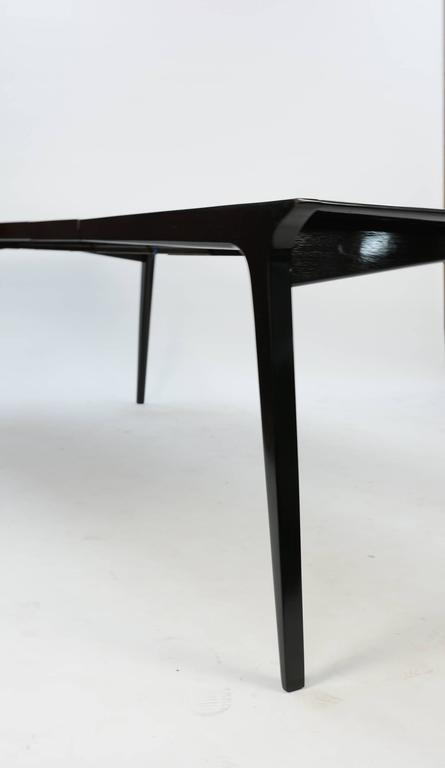 John Van Koert Profile Dining Set for Drexel in Black Lacquer 4