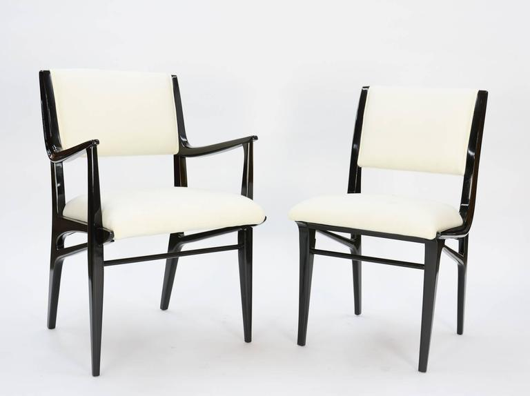 John Van Koert Profile Dining Set for Drexel in Black Lacquer 6