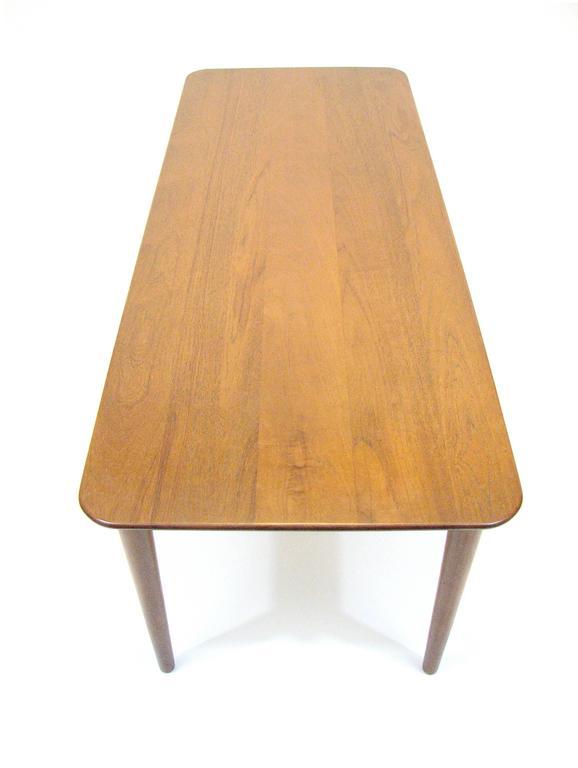 Danish Mid-Century Norwegian Teak Coffee Table by Gustav Bahus For Sale