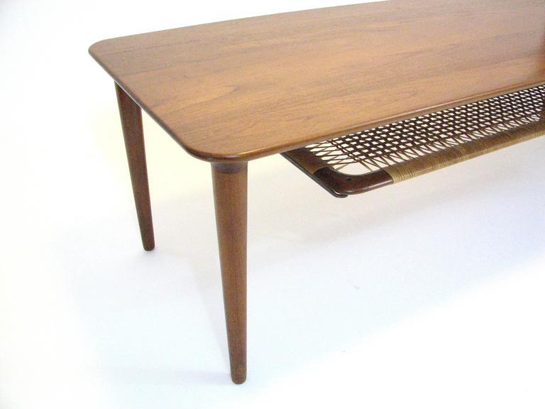 20th Century Mid-Century Norwegian Teak Coffee Table by Gustav Bahus For Sale