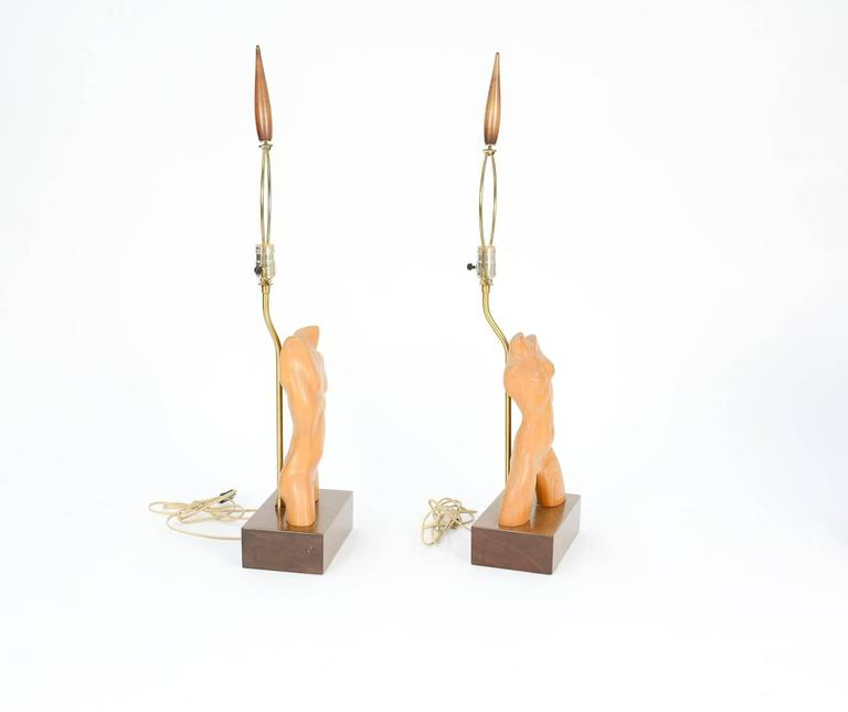 American Amazing Pair of All Original Yasha Heifetz Lamps For Sale