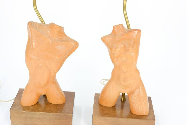 Mid-Century Modern Amazing Pair of All Original Yasha Heifetz Lamps For Sale