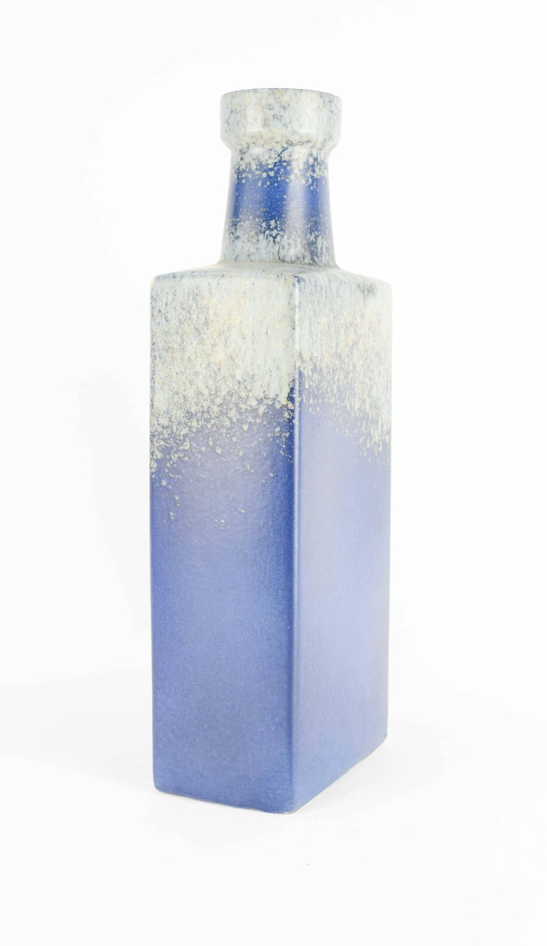 Grand and Brilliant Blue Lava Glazed Vase by Scheurich Keramic of West Germany 3