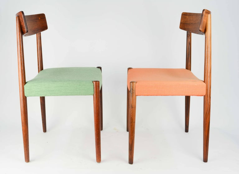 Spectacular Set of Eight Rosewood Chairs by Nils Jonsson for Troeds of Sweden 2