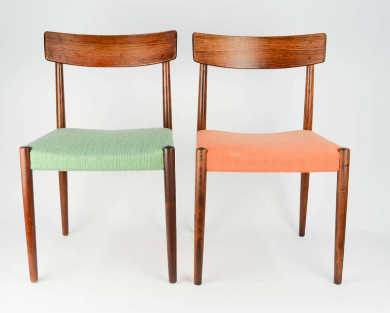 Spectacular Set of Eight Rosewood Chairs by Nils Jonsson for Troeds of Sweden 3