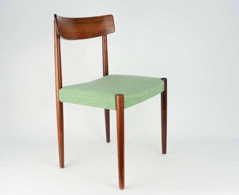 Spectacular Set of Eight Rosewood Chairs by Nils Jonsson for Troeds of Sweden 4