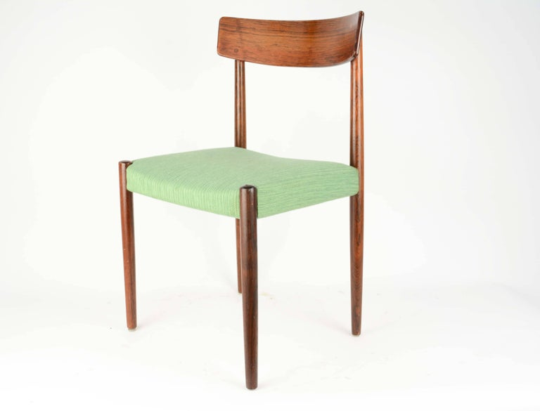 Spectacular Set of Eight Rosewood Chairs by Nils Jonsson for Troeds of Sweden 7