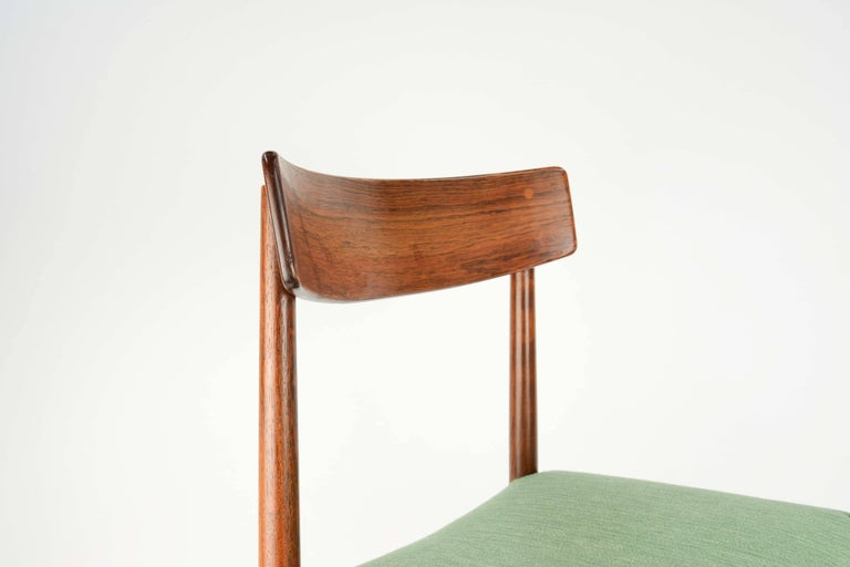 Spectacular Set of Eight Rosewood Chairs by Nils Jonsson for Troeds of Sweden 8