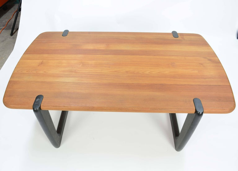 Scandinavian Modern Organic and Monumental Danish Teak Coffee Table For Sale
