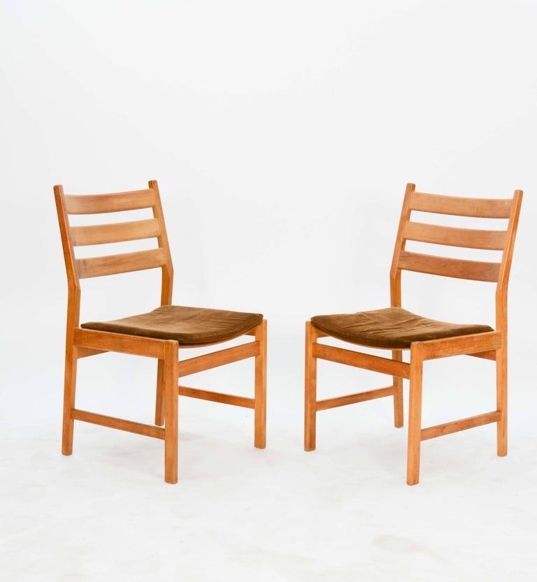 Kurt Ostervig Rustic Modern Oak Dining Set for KP Mobler of Denmark 4