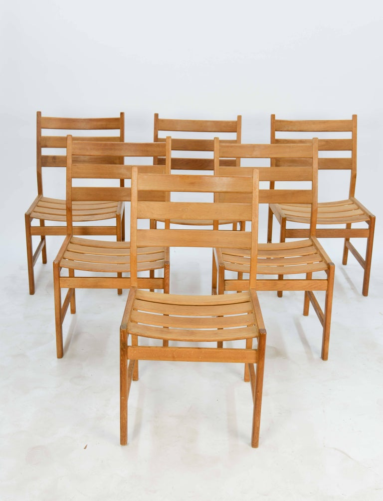 Kurt Ostervig Rustic Modern Oak Dining Set for KP Mobler of Denmark 3