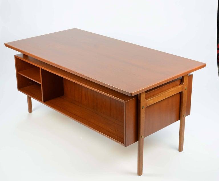 Danish Wonderful Executive Desk by Torben Strandgaard for Falster Mobler of Denmark For Sale