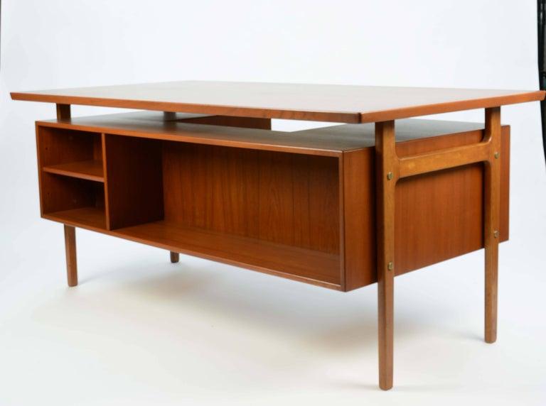 Scandinavian Modern Wonderful Executive Desk by Torben Strandgaard for Falster Mobler of Denmark For Sale