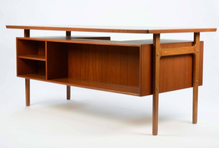 Wonderful Executive Desk by Torben Strandgaard for Falster Mobler of Denmark For Sale 1