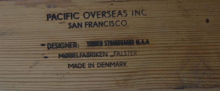 Wonderful Executive Desk by Torben Strandgaard for Falster Mobler of Denmark For Sale 2