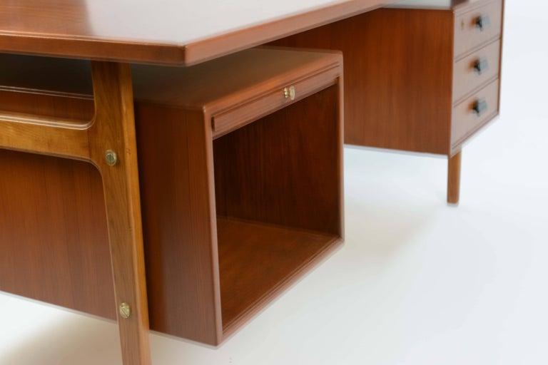 Mid-20th Century Wonderful Executive Desk by Torben Strandgaard for Falster Mobler of Denmark For Sale