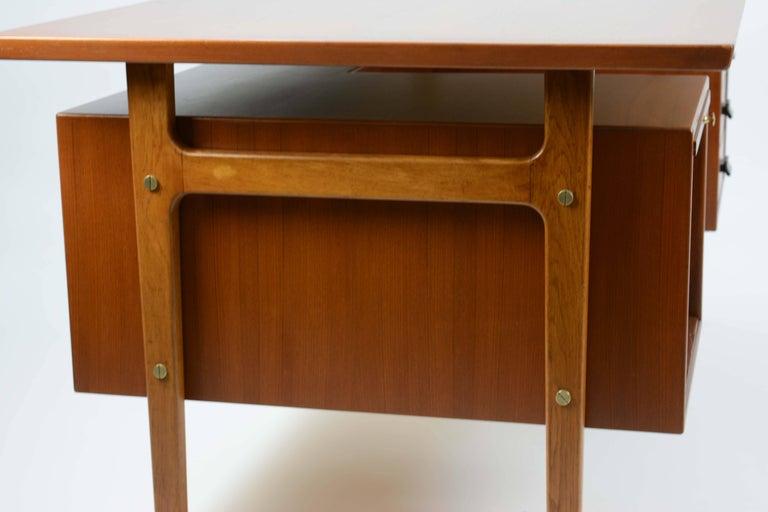Wonderful Executive Desk by Torben Strandgaard for Falster Mobler of Denmark In Good Condition For Sale In Portland, OR